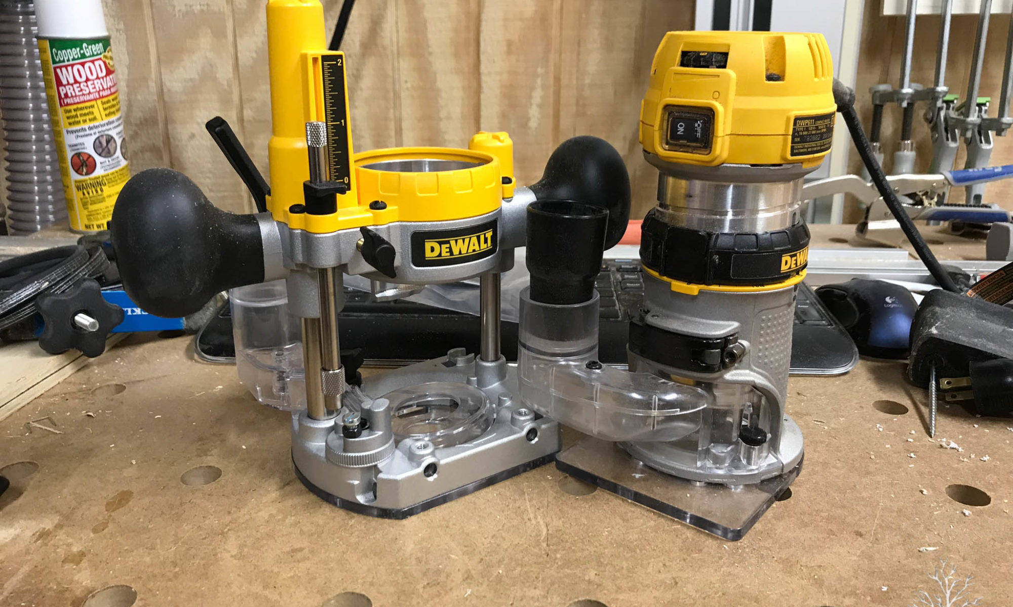 November 2017 the 144 workshop i bought a new routerthen i decided that i wanted to go in a different direction the goal was to replace my ryobi one trim router and the dewalt 611 greentooth Gallery
